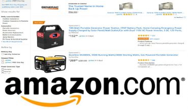Buying a Portable Generator Online
